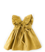 Load image into Gallery viewer, My Little Sunshine Linen Dress - Golden Olive