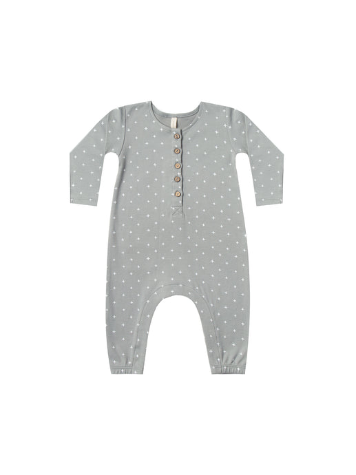 Longsleeve Jumpsuit-Dusty Blue