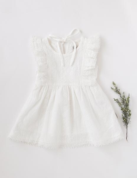 Little Angel Cotton and Lace Dress