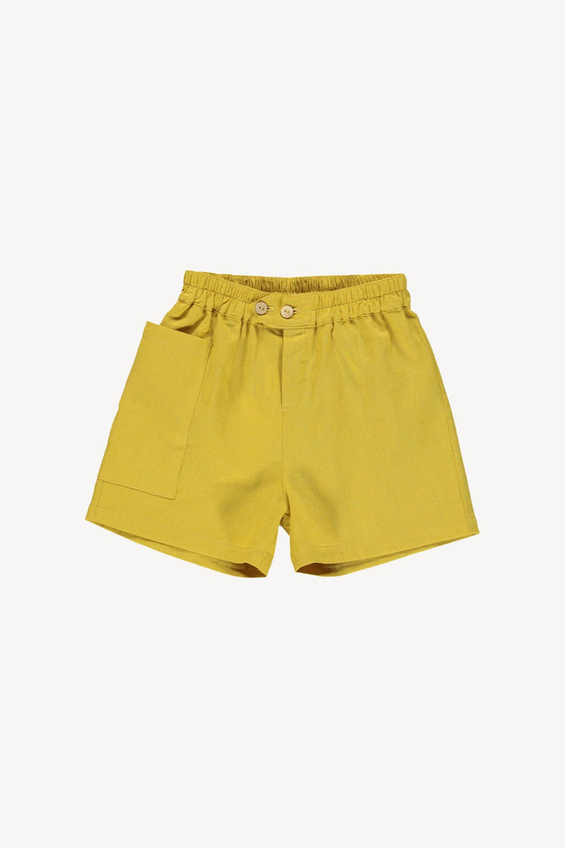 High Waisted  Shorts -Mustard