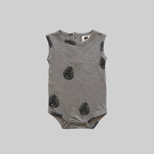 Load image into Gallery viewer, Singlet Bodysuit-Pinecone
