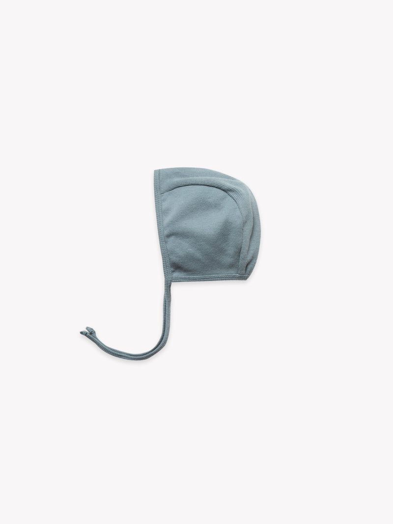 Ribbed Baby Bonnet-Sea
