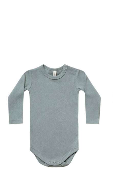 Ribbed Longsleeve Onesie-Sea