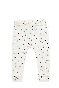 Ribbed Leggings-Pebble Dot