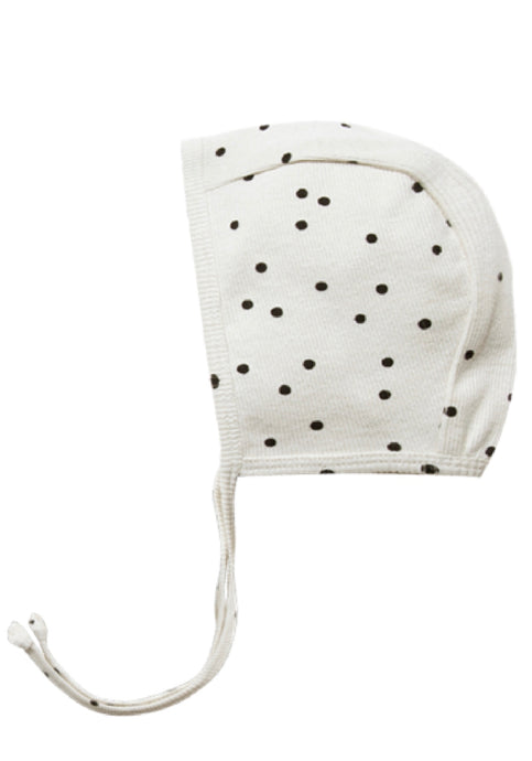 Ribbed Baby Bonnet-Pebble Dot