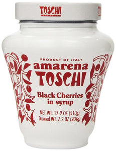 Toschi Dried Black Cherries in Syrup