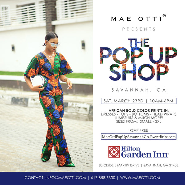 MAE OTTI POP-UP SHOP | SAVANNAH, GA | MARCH 23RD, 2019