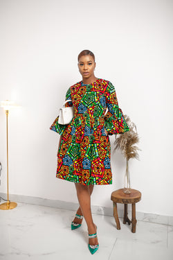 ARETHA DRESS [MULTICOLOR]