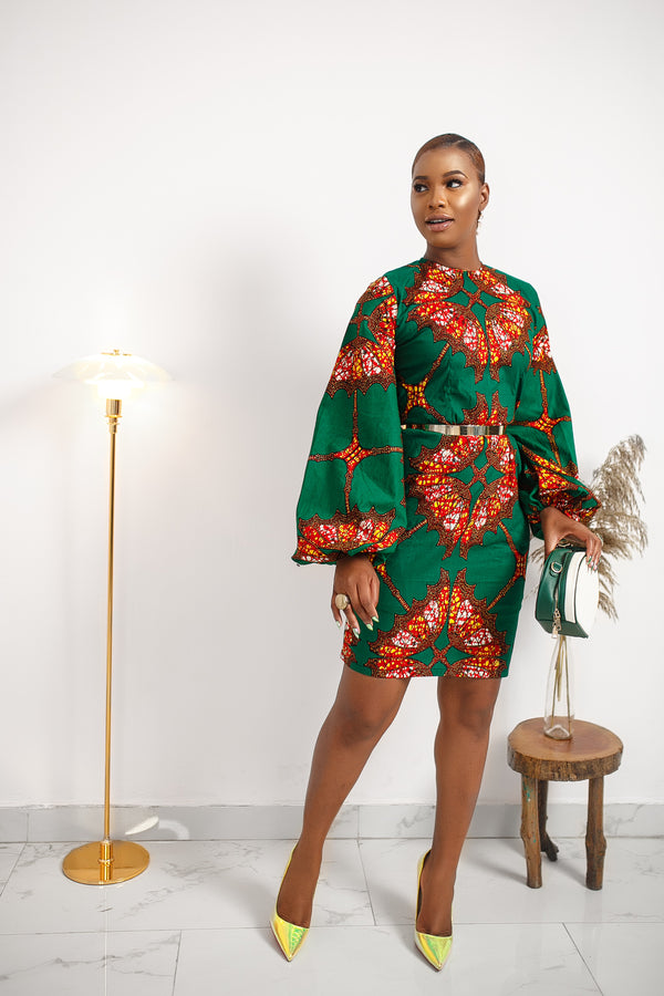 MAKEDA DRESS [GREEN]