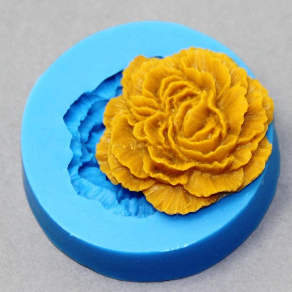 Peony Flower Silicone Molder - oddly satisfying slime