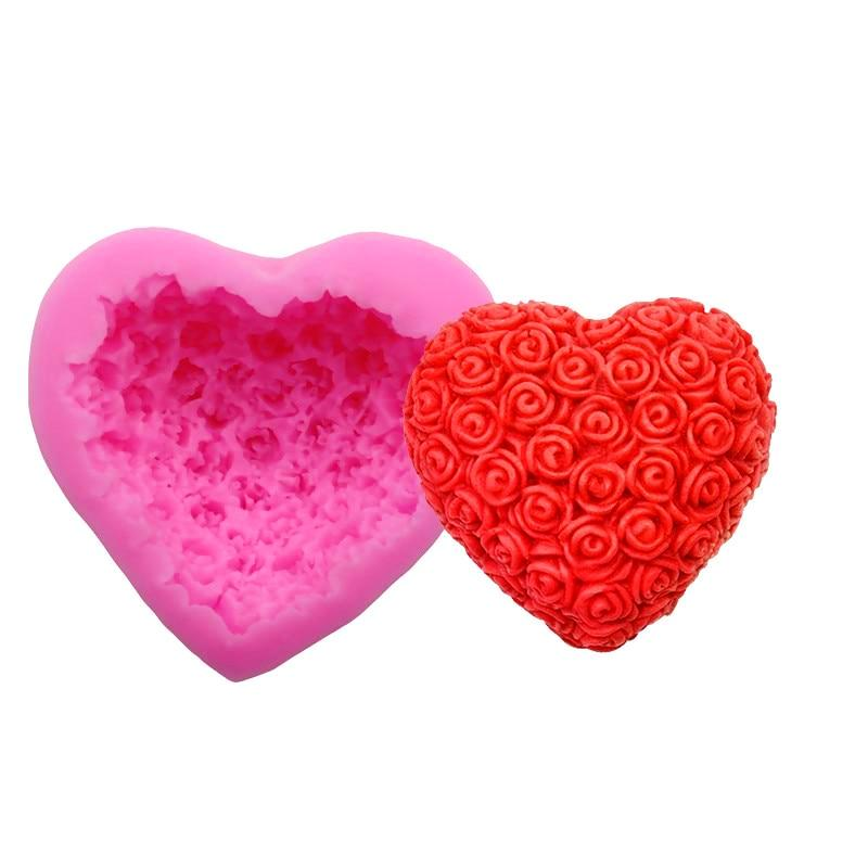Heart Silicone Soap Molder - oddly satisfying slime