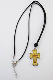 Necklace with Byzantine Tan Cross - Athonite