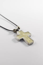 Necklace with Tan Cross - Athonite