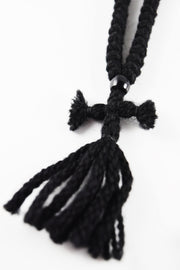Wool Prayer Rope with Knitted Cross & Tassels - Athonite
