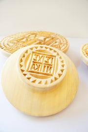 Hand Carved Prosphora Bread Stamp - Athonite
