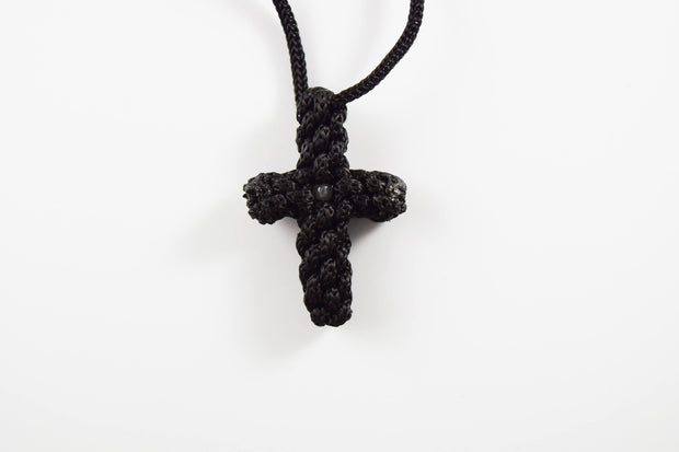 Knitted Cross on Rope - Athonite
