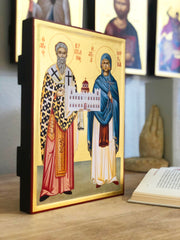 Saints Cyprian and Justina Full Stature - Athonite