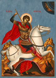 Saint George, Colored Background - Athonite