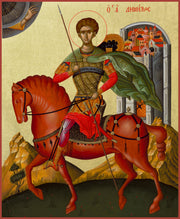 Saint Dimitrios on Horseback - Athonite