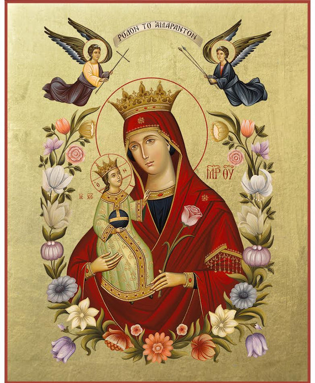 Virgin Mary Rodon to Amaranto (Roses) - Athonite