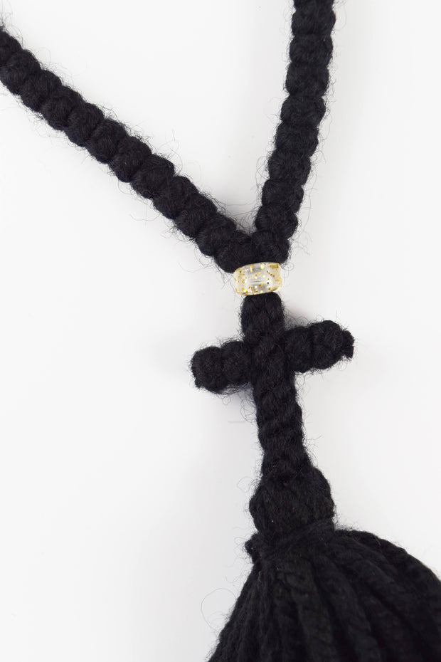 Wool Prayer Rope with Bead - Athonite