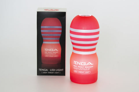 Tenga Deep Throat Cup display light