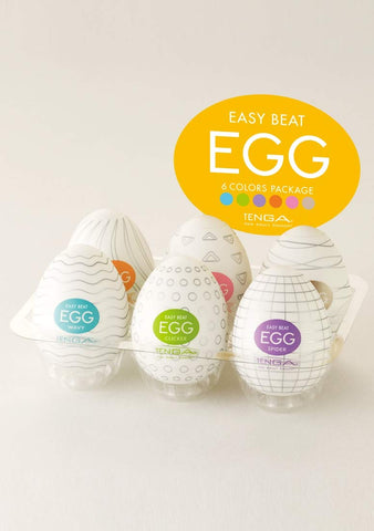 Tenga Easy Beat EGG 6-Color Package Variety Mens Portable Pleasure Device 6-Pac