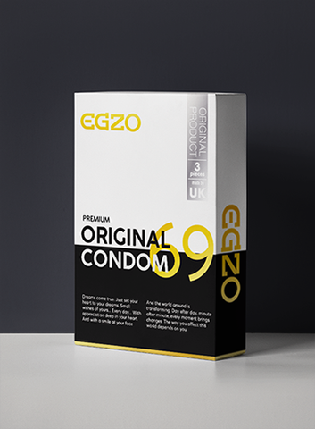 3 Original Latex Condoms - Egzo Premium