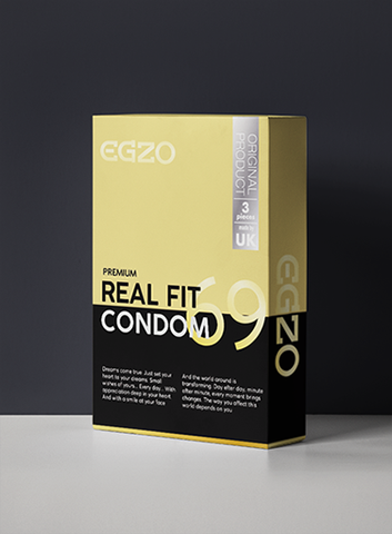 3 Real Fit Latex Condoms - Egzo Premium