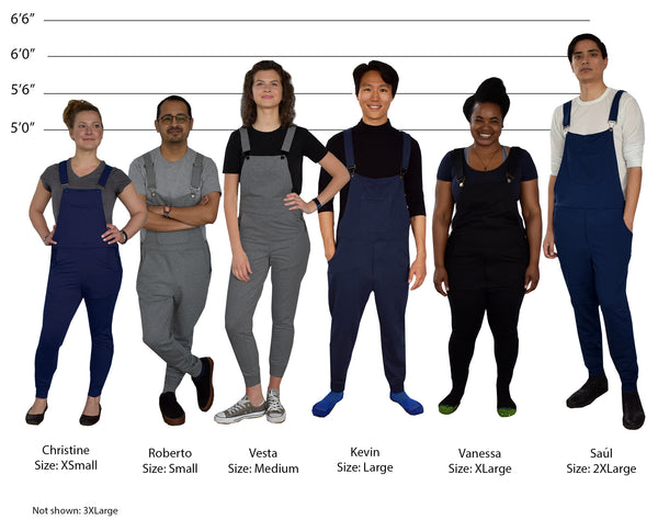 Swoveralls size chart