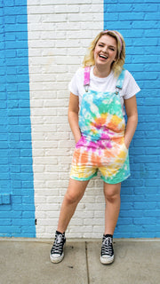 [Limited Edition] Swovie Shorts - Tie-Dye Sweatpant Overalls The Great Fantastic