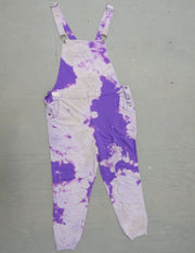 Dark Purple Contrast - Swoveralls Upcycled by Sera Sweatpant Overalls The Great Fantastic