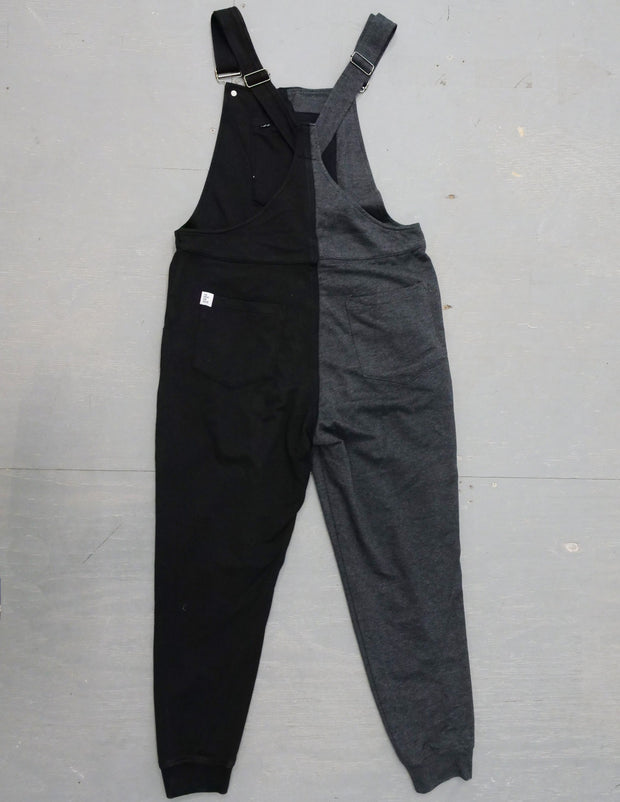 Half n' Half - Swoveralls Upcycled by Sera Sweatpant Overalls The Great Fantastic