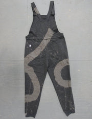 Grey Bleached Swirl - Swoveralls Upcycled by Sera Sweatpant Overalls The Great Fantastic