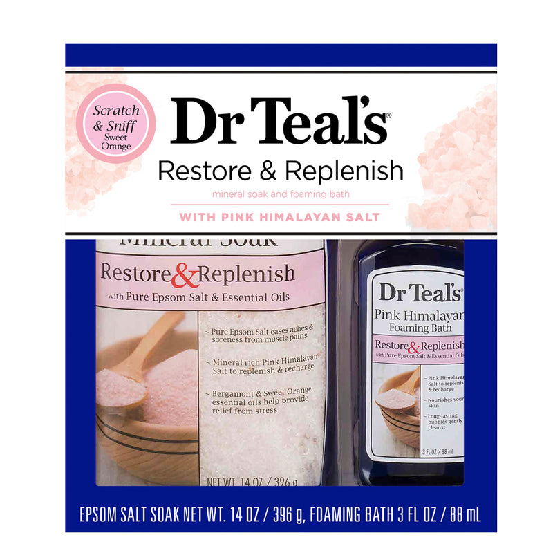 Dr Teal's Gift Set - 2pc Pink Himalayan