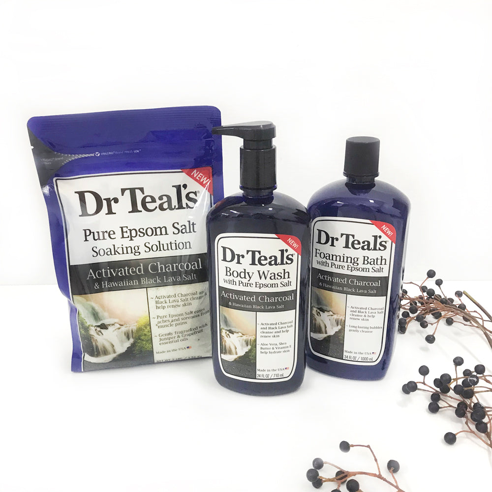 Dr teals activated charcoal pack
