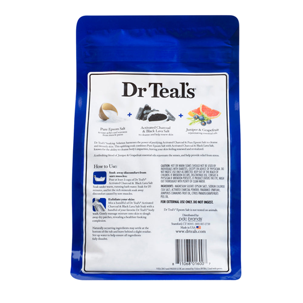 Dr Teals Epsom Salt Activated Charcoal Soaking Solution