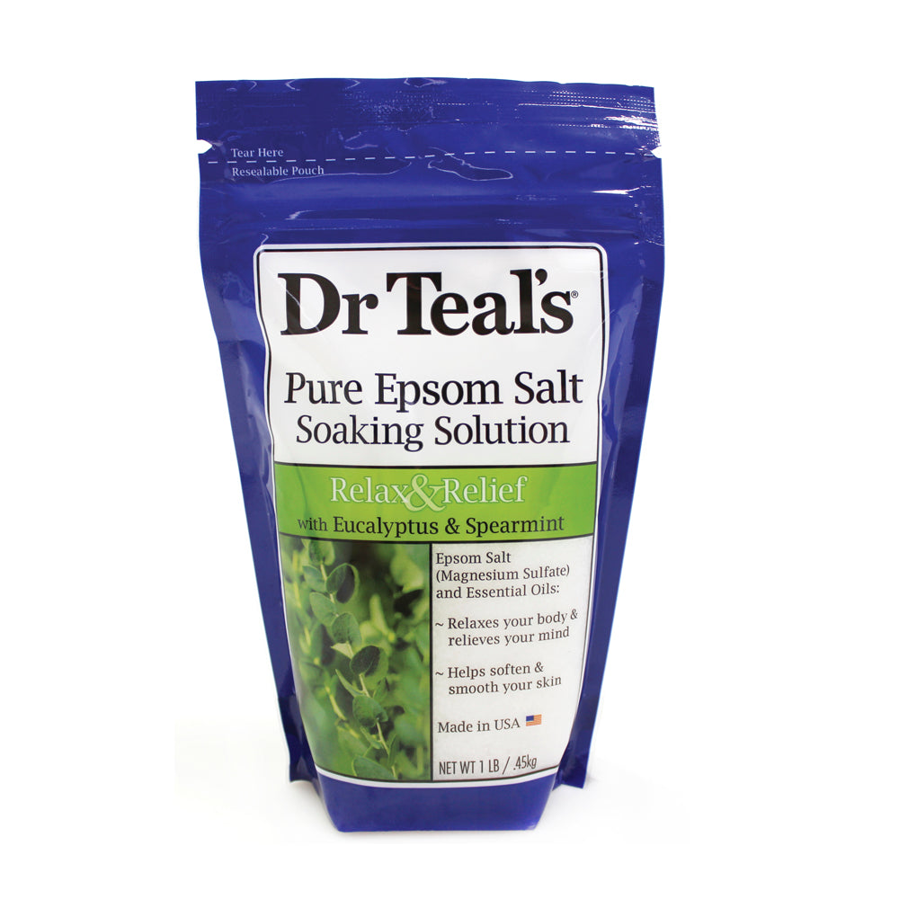 Dr Teals Epsom Salt Eucalyptus Spearmint Soaking Solution Small