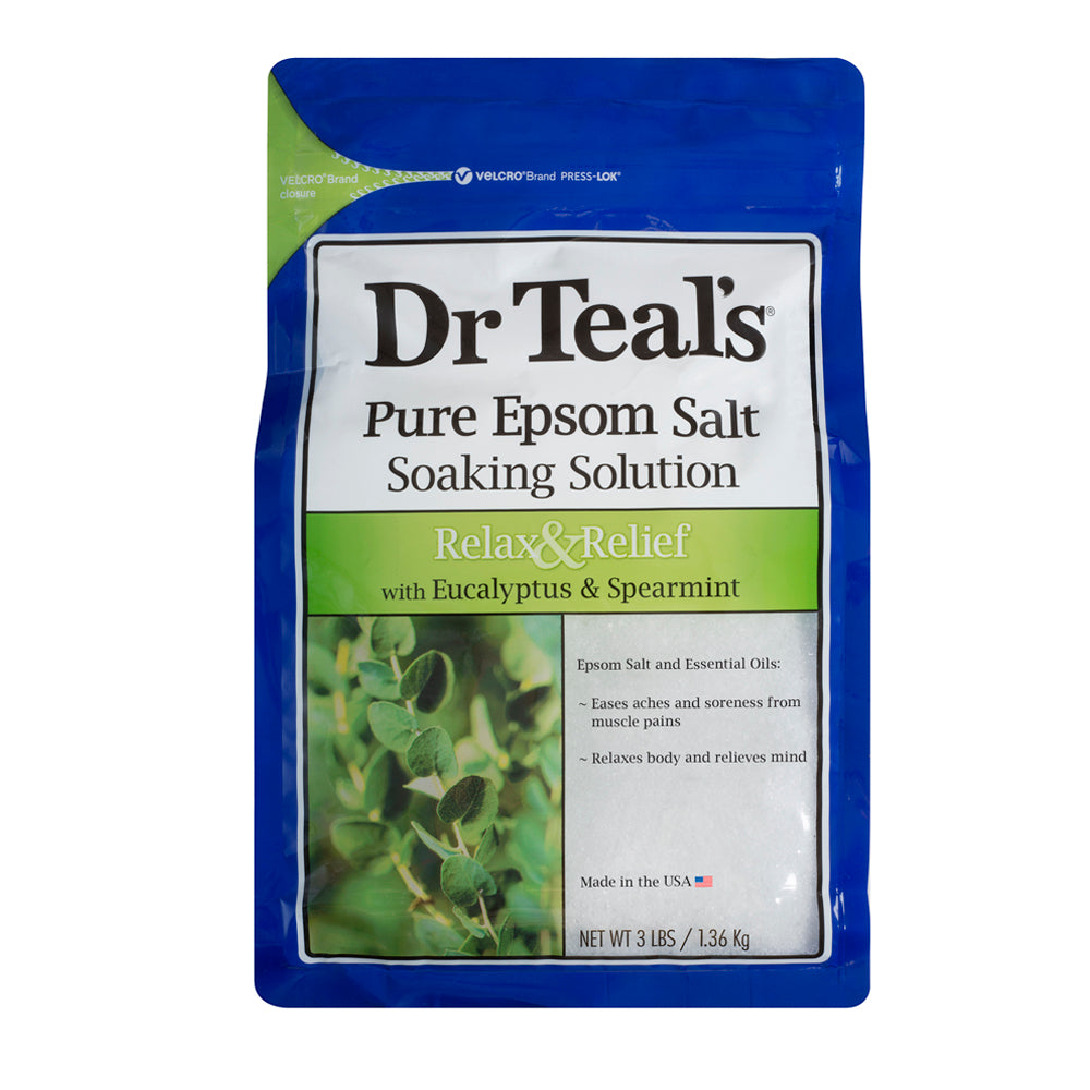 Dr Teals Epsom Salt Eucalyptus Spearmint Soaking Solution