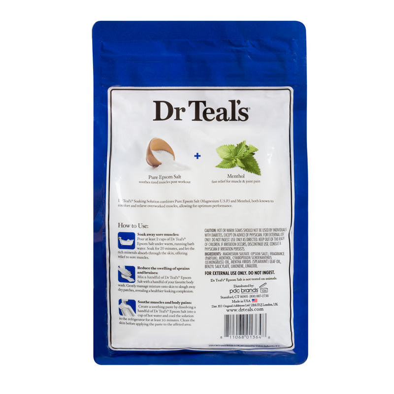 Dr Teals Epsom Salt Magnesium Sulfate Menthol Soaking Solution