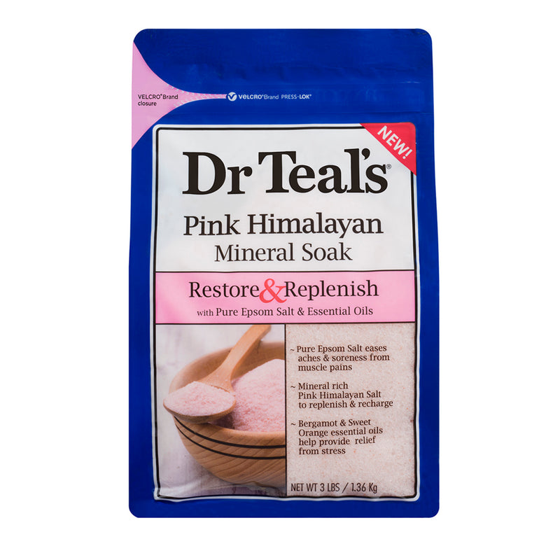 Dr Teals Epsom Salt Pink Himalayan Soaking Solution