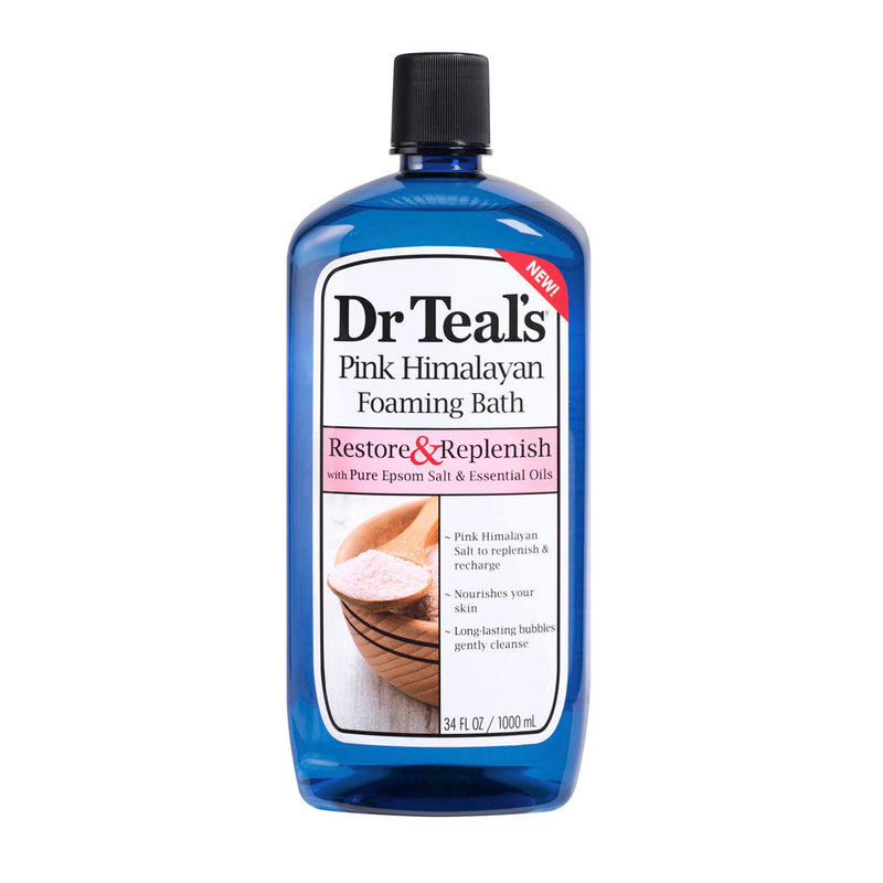 Dr Teal's Foaming Bath - Restore & Replenish with Pink Himalayan