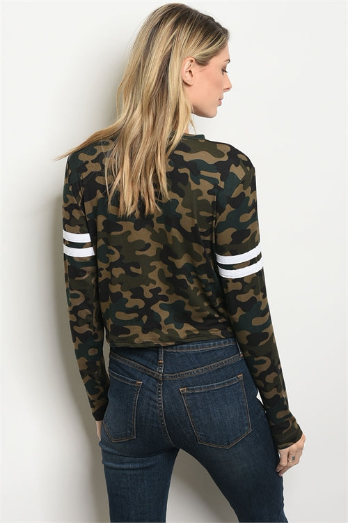Camouflage Legendary Print Top
