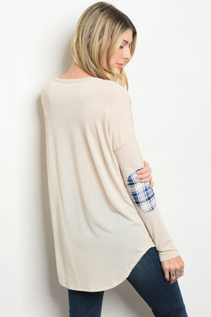 Taupe Elephant Print Tunic Top