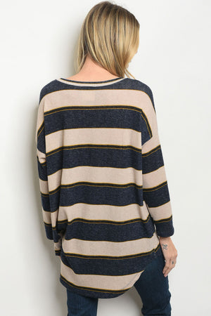 Essential Navy Sand Sweater