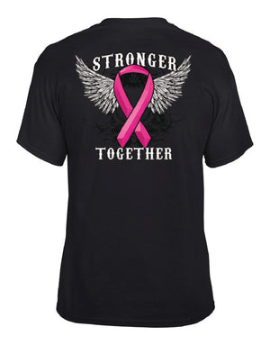 Stronger Together Pink Ribbon Tee