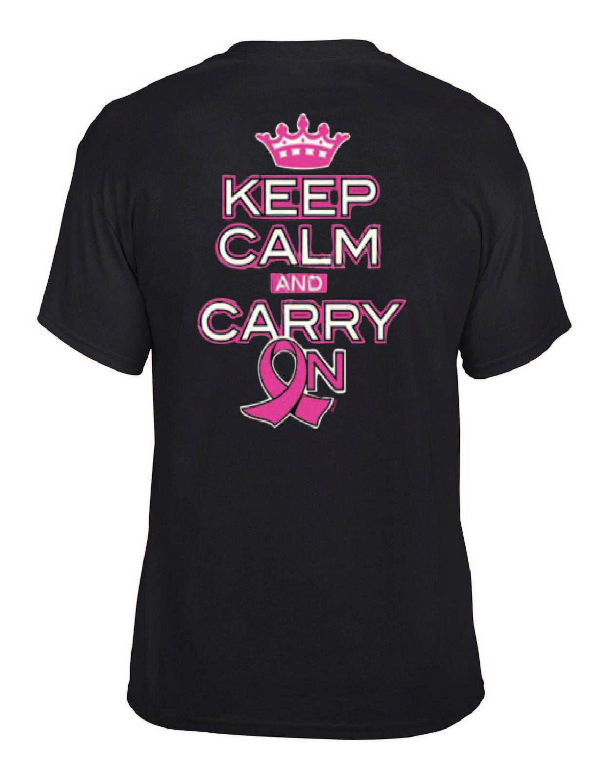 Keep Calm and Carry On Pink Ribbon Tee