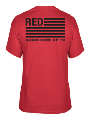 RED Remember Everyone Deployed Tee