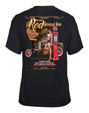 Get Your Hot Rod Serviced Here Tee