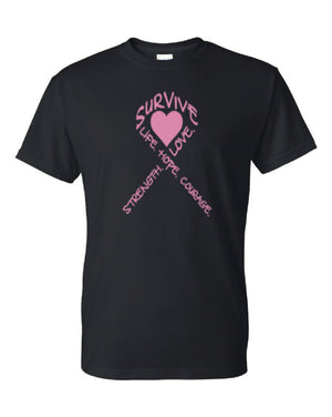 Survive Pink Ribbon Tee